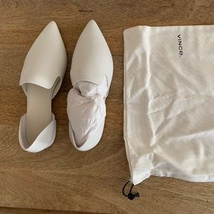 Brand new Vince white leather flats, size 8